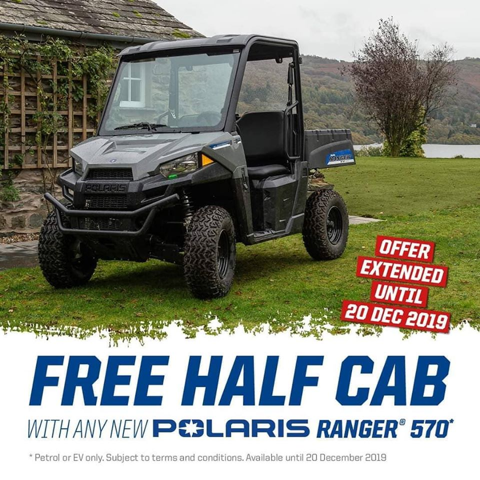 Free half cab offer Polaris